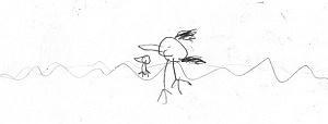 Vorher: Enten auf dem See; Junge (Kindergarten), 5 3/4 Jahre