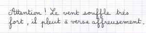 Verwendung der französischen Lineatur